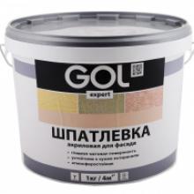 Шпатлевка акриловая для фасада GOL Expert