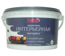 Краска акриловая моющаяся интерьерная Palizh