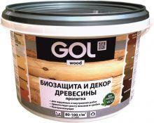 Пропитка GOL wood №232 защитно-декоративная для древесины AQUA